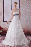 Cinderella Church Halter Sleeveless Backless Court Train Appliques Bridal Gowns
