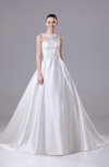 Elegant Garden Sleeveless Hook up Court Train Bow Bridal Gowns