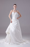 Elegant Hall Sweetheart Sleeveless Lace up Appliques Bridal Gowns