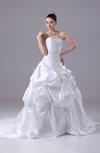 Cinderella Outdoor Sweetheart Sleeveless Zipper Court Train Beaded Bridal Gowns
