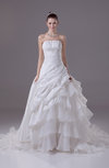 Disney Princess Outdoor Strapless Sleeveless Backless Court Train Edging Bridal Gowns
