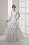 Cinderella Hall Sleeveless Zipper Court Train Lace Bridal Gowns