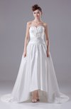 Modern Hall A-line Sweetheart Satin Hi-Lo Bridal Gowns