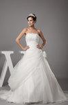 Elegant Church Princess Sleeveless Zipper Court Train Ruching Bridal Gowns