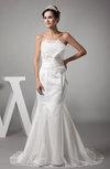 Mature Church Mermaid Sleeveless Court Train Ribbon Bridal Gowns