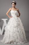 Disney Princess Beach Princess Backless Floor Length Ruffles Bridal Gowns