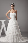Modern Hall Sweetheart Sleeveless Chiffon Court Train Beaded Bridal Gowns