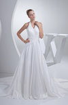 Traditional Outdoor A-line Zip up Taffeta Chapel Train Bridal Gowns