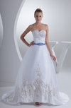 Modern Hall Sleeveless Zip up Court Train Paillette Bridal Gowns