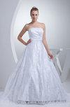 Glamorous Hall Sleeveless Zip up Sash Bridal Gowns