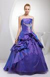Romantic Princess Backless Taffeta Floor Length Pick up Quinceanera Dresses