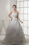 Romantic Outdoor Sweetheart Sleeveless Taffeta Court Train Bridal Gowns
