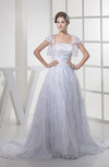 Fairytale Hall Princess Strapless Zip up Court Train Bridal Gowns