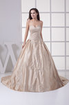 Classic Hall Sweetheart Sleeveless Court Train Paillette Bridal Gowns
