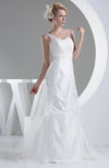 Fairytale Hall Mermaid Sleeveless Zip up Court Train Bridal Gowns