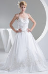 Cinderella Outdoor Princess Spaghetti Sleeveless Taffeta Bridal Gowns