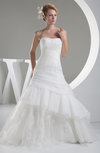 Disney Princess Hall Sleeveless Lace up Organza Chapel Train Beaded Bridal Gowns