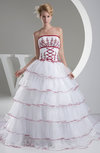 Disney Princess Hall Princess Strapless Sleeveless Organza Bridal Gowns