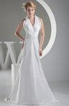 Elegant Hall Sheath Sleeveless Zip up Ruching Bridal Gowns