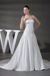 Gorgeous Hall A-line Sleeveless Backless Chapel Train Rhinestone Bridal Gowns