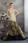 Antique Hall Fit-n-Flare Halter Sleeveless Court Train Bridal Gowns
