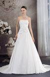 Disney Princess Hall A-line Strapless Sleeveless Taffeta Chapel Train Bridal Gowns