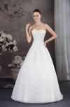 Modern Garden A-line Sleeveless Backless Floor Length Sequin Bridal Gowns