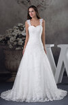 Romantic Church Sleeveless Backless Brush Train Sequin Bridal Gowns