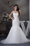 Romantic Hall Illusion Sleeveless Court Train Bridal Gowns