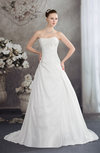 Disney Princess Hall A-line Strapless Backless Taffeta Bridal Gowns