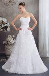 Fairytale Garden Sweetheart Sleeveless Sweep Train Flower Bridal Gowns