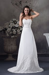 Classic Church A-line Scalloped Edge Sleeveless Lace Bridal Gowns