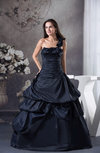 Elegant Outdoor Princess One Shoulder Sleeveless Backless Ruching Bridal Gowns