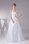 Informal Outdoor Sweetheart Sleeveless Court Train Appliques Bridal Gowns