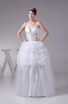 Fairytale Hall Spaghetti Backless Organza Floor Length Bridal Gowns