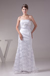 Romantic Church Strapless Sleeveless Brush Train Paillette Bridal Gowns