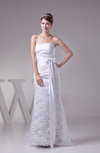 Classic Garden Sheath Sleeveless Backless Sweep Train Sash Bridal Gowns