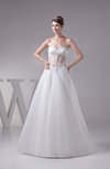Modern Church Lace up Court Train Appliques Bridal Gowns