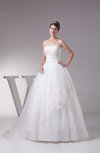 Glamorous Hall Full Skirt Sleeveless Backless Court Train Bridal Gowns