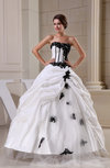 Elegant Church Strapless Sleeveless Zip up Floor Length Bridal Gowns