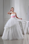 Romantic Church Full Skirt Backless Organza Floor Length Paillette Bridal Gowns