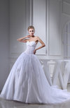 Elegant Church Sweetheart Sleeveless Organza Paillette Bridal Gowns
