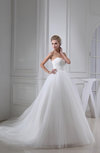 Classic Church A-line Lace up Paillette Bridal Gowns