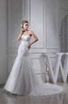 Elegant Hall Fit-n-Flare Spaghetti Sleeveless Chapel Train Bridal Gowns