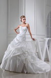 Glamorous Church Princess Sleeveless Zipper Taffeta Appliques Bridal Gowns