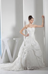 Glamorous Church Princess Zipper Taffeta Chapel Train Beading Bridal Gowns