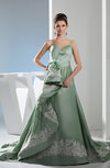 Classic Hall Sweetheart Sleeveless Lace up Taffeta Court Train Bridal Gowns