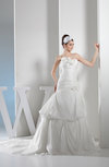 Elegant Church A-line Strapless Sleeveless Backless Bridal Gowns