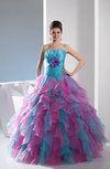 Casual Hall Ball Gown Sleeveless Backless Floor Length Bridal Gowns