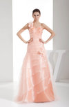 Cute Hall A-line One Shoulder Zip up Organza Floor Length Bridal Gowns